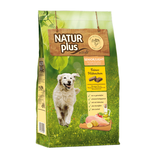 Natur plus Hund Senior Light Das Futterhaus