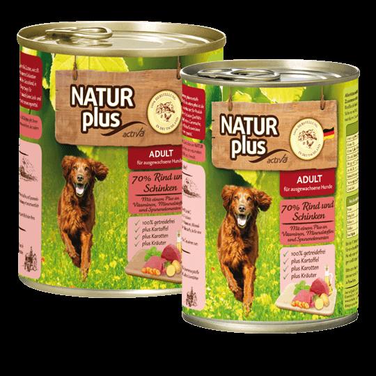 Natur plus Hund Rind und Schinken
