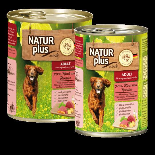 Natur plus Hund Rind und Rentier
