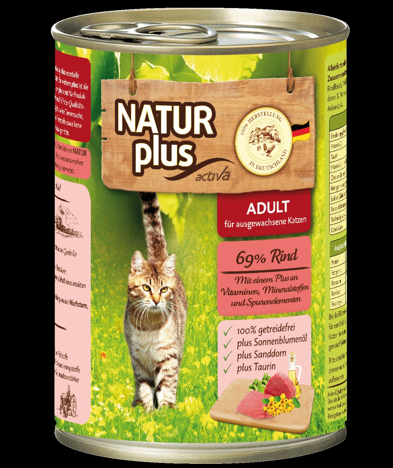 Natur plus Katze Rind