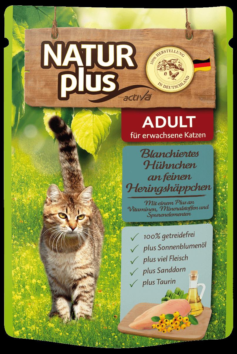 Natur plus Katze Pouchbeutel Adult Blanchiertes Huehnchen