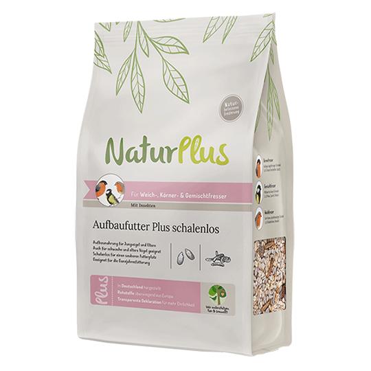 NaturPlus Aufbaufutter Plus schalenlos - Mit Insekten