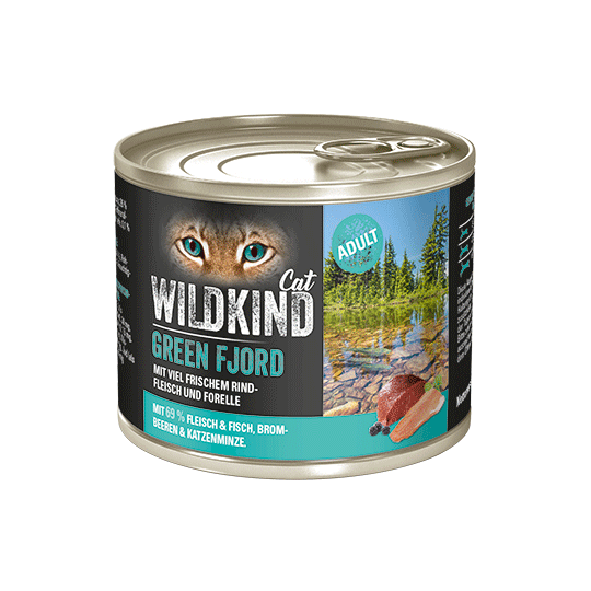 WILDKIND Cat GREEN FJORD Adult Rind Forelle