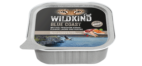 WILDKIND Cat BLUE COAST Adult Gans, Lachs und Hering