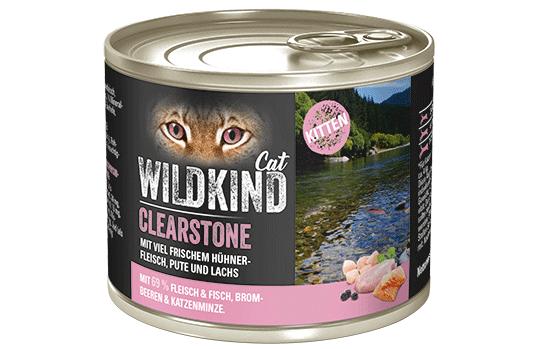 WILDKIND Cat Clearstone Kitten Huhn, Pute und Lachs