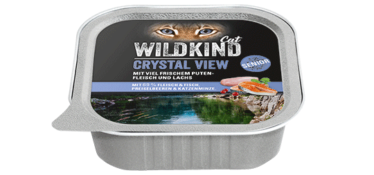 WILDKIND Cat CRYSTAL VIEW Senior Pute und Lachs
