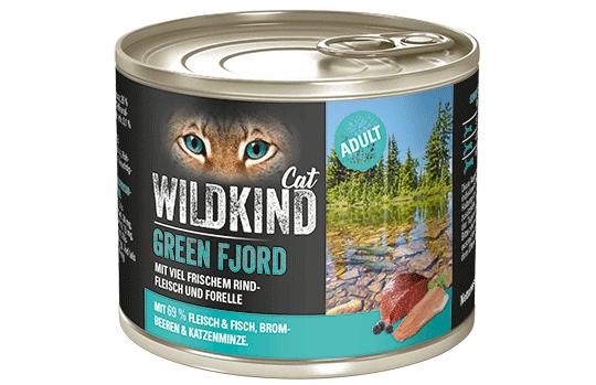 WILDKIND Cat GREEN FJORD Adult Rind und Forelle