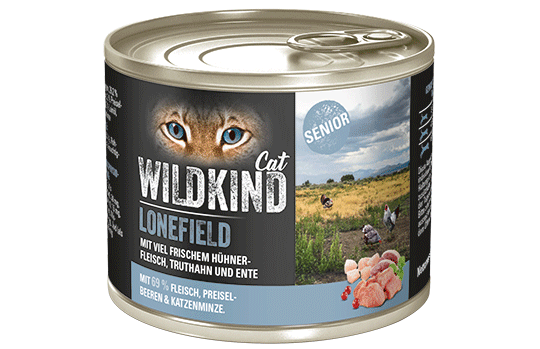 WILDKIND Cat LONEFIELD Senior Huhn, Truthahn und Ente