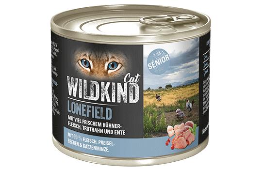 WILDKIND Cat LONEFIELD Senior Huhn, Truthahn und Ente