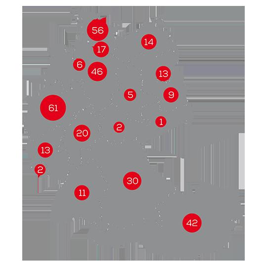 Das Futterhaus Karte - Zahlen und Fakten